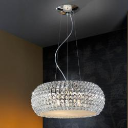 Diamond Suspension Grand 9 G9 LED 4W Chrome/Copens Verre