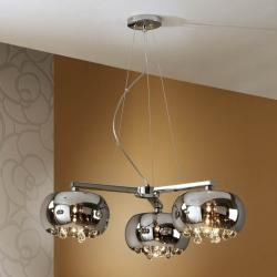 Argos Pendant Lamp 3L Chrome