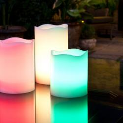 Vela LED Rainbow RGB Set 3 con Mando a Distancia Velas LED