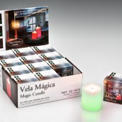 Vela LED Set 12 cire avec llama Cilindrica Llama Velas LED