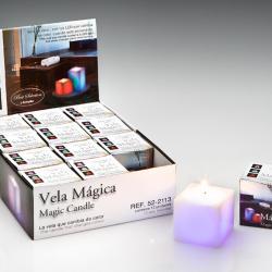 Vela LED Set 12 cire avec llama Carrée Llama Velas LED