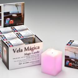Vela LED Set 6 cire avec Llama Carrée Velas LED