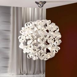 Nova Pendant Lamp 8L white/Glass