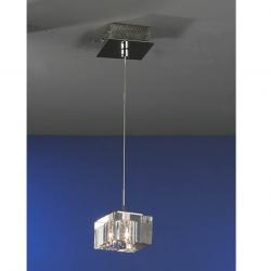 Cubic Lámpara Colgante 1L Cromo brillo