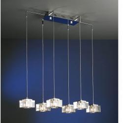 Cubic Lámpara Colgante 6L Cromo brillo