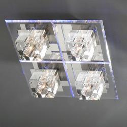 Cubic Plafón 4L Cromo brillo/Metacrilato Biselado