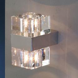 Cubic Aplique 2L Cromo brillo/Cristal