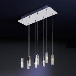 Cubic II Lámpara Colgante 8L Cromo brillo