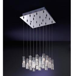 Cubic II Lámpara Colgante 16L Cromo brillo