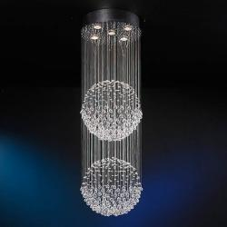 Estratos Suspension 2 Balles 5L chromé brillant/Verre Asfour