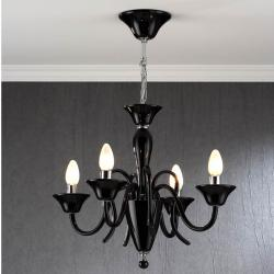 Hada Pendant Lamp 4L Glass Black