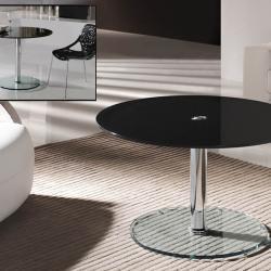 Eclipse table round Hidráulica Black