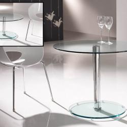 Eclipse table round Hidráulica Transparent