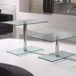 Eclipse table rectangular Hidráulica Transparent