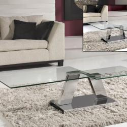 Corinto table Centro steel/Glass
