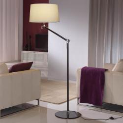 Atlas lámpara of Floor Lamp 1L Aluminium Black + lampshade Crude