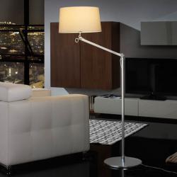 Atlas lámpara of Floor Lamp 1L Aluminium Anodized + lampshade Crude