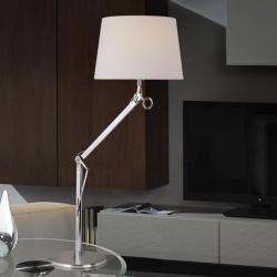 Atlas Lampe de table 1L Aluminium Anodisé + abat-jour Brut