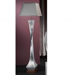 Deco lámpara de Pie Pan de Plata + pantalla Plata