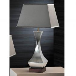 Deco Table Lamp Silver Leaf lampshade 7432