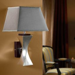 Deco Wall Lamp Silver Leaf + lampshade Silver