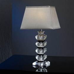 Corinto Table Lamp Large Black/Transparent
