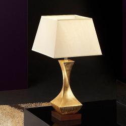 Deco Lampe de table E27 60W Feuille d'or