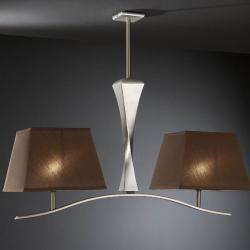 Deco Lámpara Colgante Pan + pantalla café