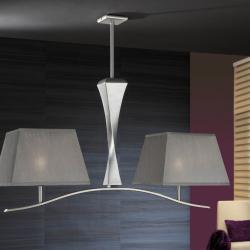 Deco Lámpara Colgante Pan de Plata + pantalla Plata