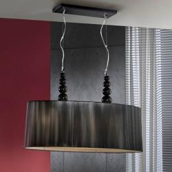 Mercury Pendant Lamp Doble 4L Black + lampshade Hilo Tensado Black