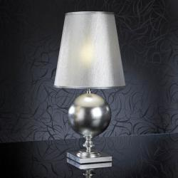 Terra Table Lamp Silver + lampshade Silver