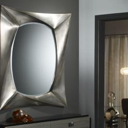 miroir rectangulaire Feuille d´argent Grand