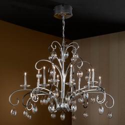 Voluta Pendant Lamp 12L bright chrome/Glass