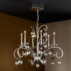 Voluta Pendant Lamp 6L bright chrome/Glass