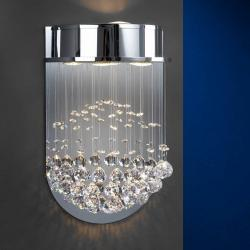 Estratos Applique 3L chromé brillant/Verre Asfour