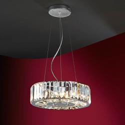 Corona Pendant Lamp 6xG9 42W bright chrome