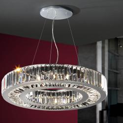 Corona Pendant Lamp 9xG9 42W bright chrome