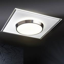 Dune ceiling lamp Square white/Chrome