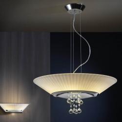 Andros Pendant Lamp 6 E14 LED 4W + 1 GU10 LED 7W bright chrome