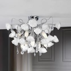 Rosas ceiling lamp 10L bright chrome