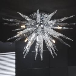 Urano plafonnier 9 G9 LED 4W chromé brillant Verre transparent