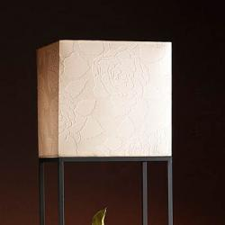 lampshade Square Papel white Relieve 30cm