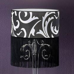 lampshade with fringe Black 40cm