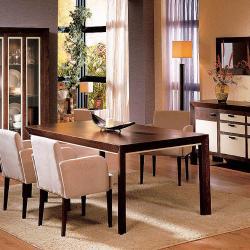 Zen mesa de comedor Nogal/Moka