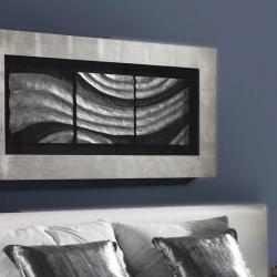 Oleaje basrelief Rahmen 120cm Silberwaschpfanne