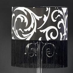 abat-jour Papel Noir pour lámpara de Lampadaire 50cm