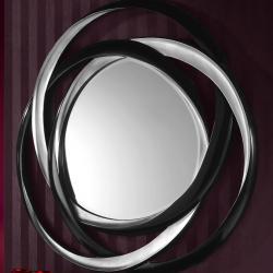 Nadine specchio ø127cm Argento/Nero
