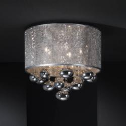 Andrómeda Plafón 5xG9 LED 6W Cromo