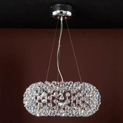 Napoleón Pendant Lamp Chrome + Glass tallado