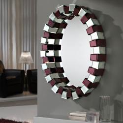 Amatista espejo Oval prisma